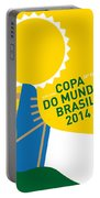 My 2014 World Cup Soccer Brazil - Rio Minimal Poster Portable Battery Charger