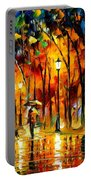 My Best Friend - Palette Knife Oil Painting On Canvas By Leonid Afremov Portable Battery Charger