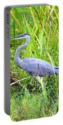 My Blue Heron Portable Battery Charger by Greg Fortier