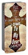 My Dear Savior Portable Battery Charger by Michelle Greene Wheeler