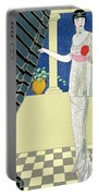 My Guests Have Not Arrived Portable Battery Charger by Georges Barbier