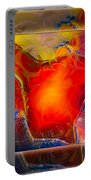 My Heart On My Sleeve An Abstract Painting Portable Battery Charger