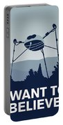 My I Want To Believe Minimal Poster-war-of-the-worlds Portable Battery Charger