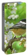 My Little Chickadee In The Cherry Tree Portable Battery Charger by Jennie Marie Schell