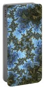 My Maui Fractal Art Abstract Palms And Blue Sky And Waters Portable Battery Charger