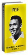 My Pele Soccer Legend Poster Portable Battery Charger