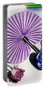 My Purple Fan Portable Battery Charger