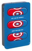 My Superhero Pills - Captain America Portable Battery Charger