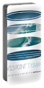 My Surfspots Poster-5-devils-point-tasmania Portable Battery Charger by Chungkong Art