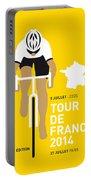 My Tour De France Minimal Poster 2014 Portable Battery Charger