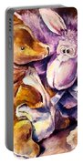 My Toys - Palette Knife Oil Painting On Canvas By Leonid Afremov Portable Battery Charger