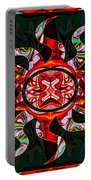 Mysterious Circumstances Abstract Sun Symbol Artwork Portable Battery Charger