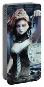 Mysterious Girl Portable Battery Charger