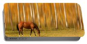 Mystic Autumn Grazing Horse Portable Battery Charger