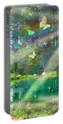 Mystic Foggy Forest Portable Battery Charger by Alixandra Mullins