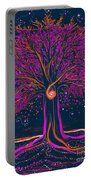Mystic Spiral Tree 1 Pink By Jrr Portable Battery Charger