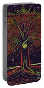 Mystic Spiral Tree Red By Jrr Portable Battery Charger by First Star Art