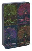 Mystic Spiral Tree X 4 By Jrr Portable Battery Charger