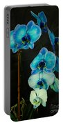 Mystique Blue Orchids Portable Battery Charger