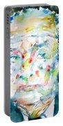 Nabokov Vladimir - Watercolor Portrait Portable Battery Charger