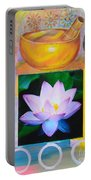 Namaste With Singing Bowl Portable Battery Charger