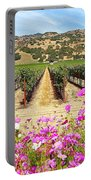 Napa Valley Vineyard With Cosmos Portable Battery Charger