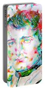 Napoleon Bonaparte - Watercolor Portrait Portable Battery Charger