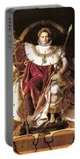 Napoleon I On His Imperial Throne Portable Battery Charger