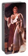 Napoleon In His Coronation Robes  Portable Battery Charger