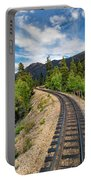Narrow Gauge Tracks In Silver Country Portable Battery Charger
