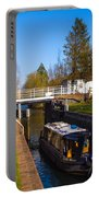 Narrowboat In Lock Portable Battery Charger