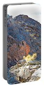 Narrowing Of Trail In Big Painted Canyon Trail In Mecca Hills-ca Portable Battery Charger
