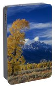 Narrowleaf Cottonwoods Fall Color Teton Portable Battery Charger