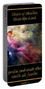 Nasa Ll Ori And The Orion Nebula Stars Of Heaven Bless The Lord Portable Battery Charger