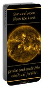 Nasa The Suns Corona Sun And Moon Bless The Lord Praise And Exalt Him Above All Forever Portable Battery Charger