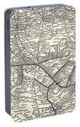 Nashville Railway Map Vintage Portable Battery Charger