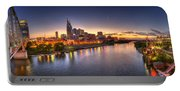 Nashville Skyline Panorama Portable Battery Charger