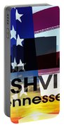 Nashville Tn Patriotic Large Cityscape Portable Battery Charger by Angelina Vick