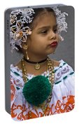 National Costume Of Panama Portable Battery Charger