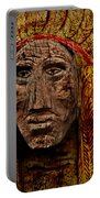 Native American In Wood 1886 Portable Battery Charger