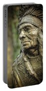 Native American Statue At Niagara Falls State Park Portable Battery Charger