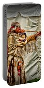 Native American With Blowgun Portable Battery Charger
