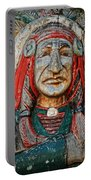 Native American Wood Carving Portable Battery Charger