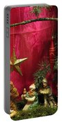 Nativity Scene In Red Portable Battery Charger