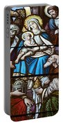 Nativity Stained Glass Portable Battery Charger