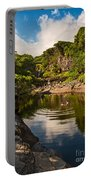 Natural Pool - The Beautiful Scene Of The Seven Sacred Pools Of Maui. Portable Battery Charger