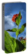 Nature Does Not Hurry Zinnia Standing Tall Portable Battery Charger