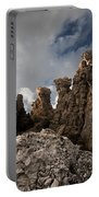 A Stunning Rock Wall Becomes A Wild Nature Sculpture In North Coast Of Minorca Europe Portable Battery Charger