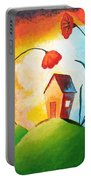 Nature Spills Colour On My House Portable Battery Charger by Nirdesha Munasinghe