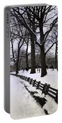 Nature's Canvas On A Wintry Day Portable Battery Charger